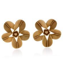 Cartier Paris Mid-20th Century Gold 'Coffee Bean' Earrings