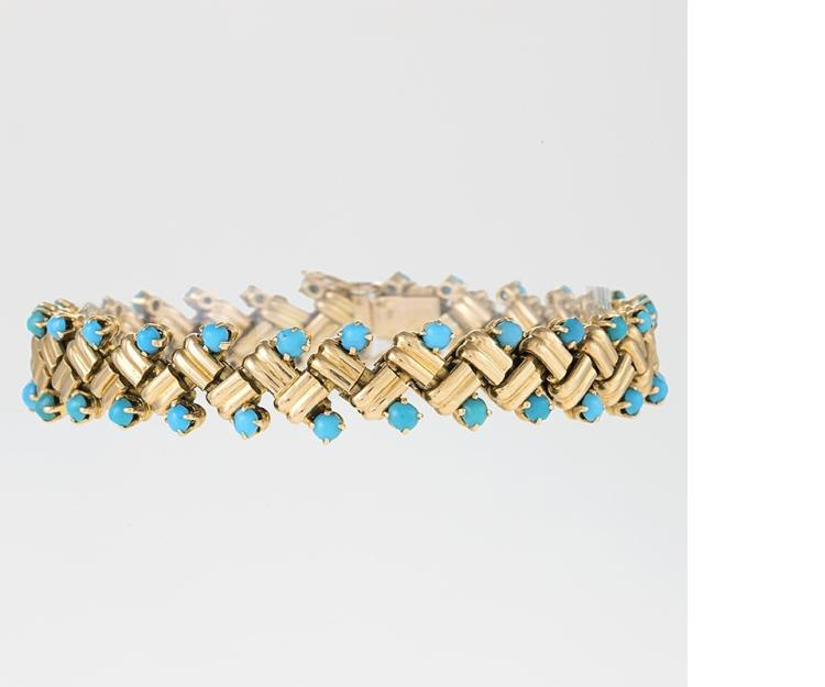 Van Cleef & Arpels Turquoise and Gold Bracelet