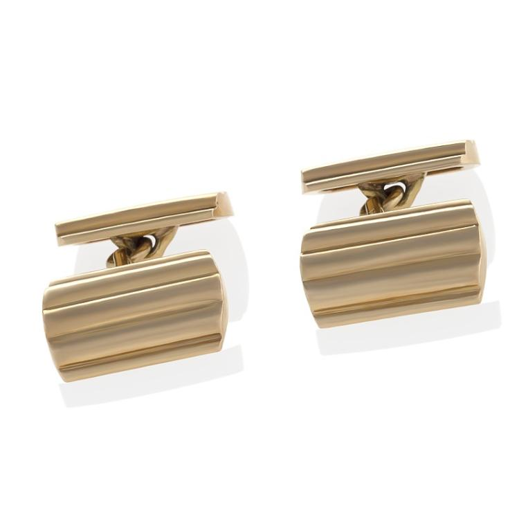 Tiffany & Co. Mid-Century Gold Cuff Links