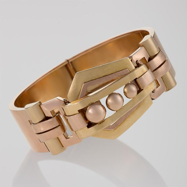 Retro Gold Bangle Bracelet