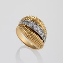 Van Cleef & Arpels Diamond, Platinum and Gold Ring