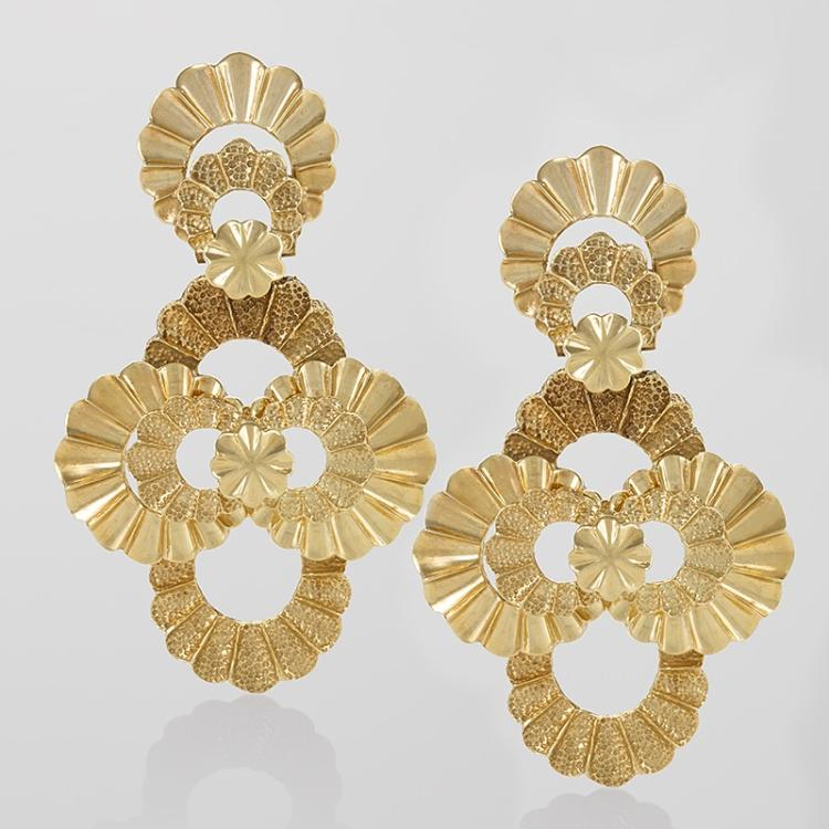 Late 20th-Century Gold Earrings
