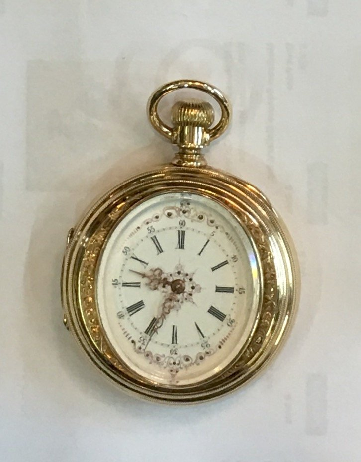 early 20th c 14k gold pocket