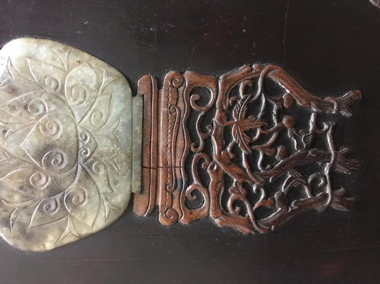 Wood Inlay Wall Decor : Chinese hard stone inlay on wood wall art