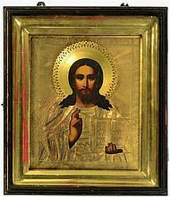 Icône  représentant le Christ Pantocrator, dans so