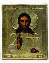 Icône  représentant le Christ Pantocrator. Chromol