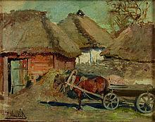 MACHKOV Ilya Ivanovich (1881-1944). Scène paysanne