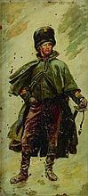 DETAILLE Edouard (1848-1912).  Portrait en pied d'