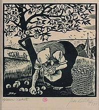 LEBEDEFF Jean (1884-1970). Scènes paysannes. Paire