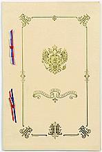 Visite de Nicolas II en France (1901).  Rare menu