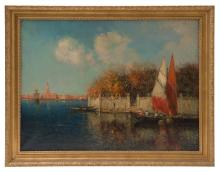 Nicholas Briganti (1861-1944) Oil (Mass, Italy)