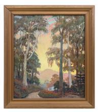 James McBurney (1868-1955) Oil (Ill, CA, OH)