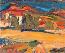 Antoine FERRARI (1910-1995) Paysage. Huile sur toi