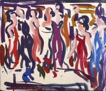 Antoine FERRARI (1910-1995) Personnages dansants.