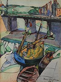 Doris Vaughan (British, 1894-1974) Boat in a