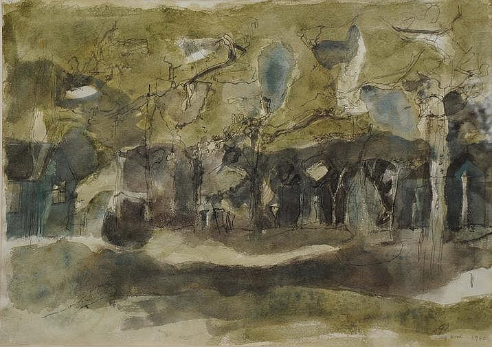 John Addyman (British, 1929-2006) Evening Wood,