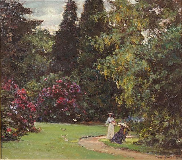 Frederick yates works on sale at auction biography for Garden design yates