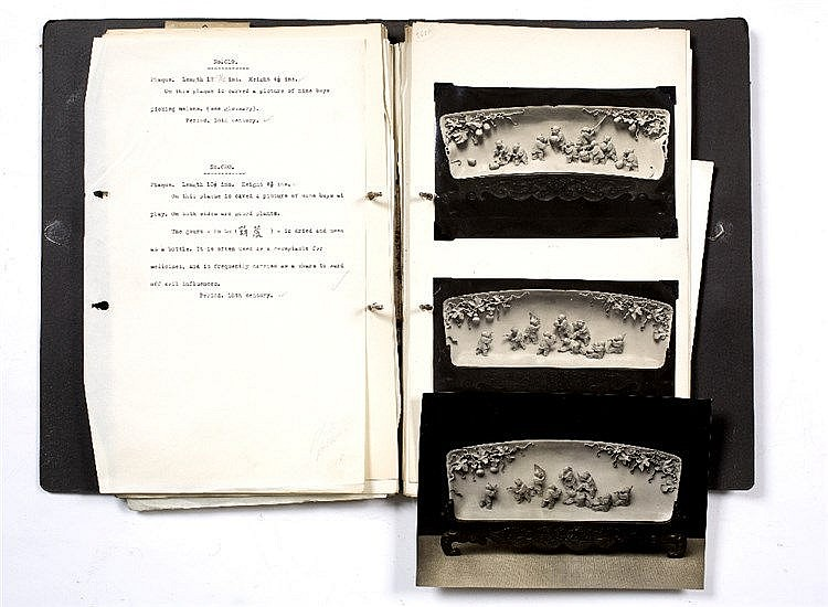 The original manuscript and edited photographic images for The catalogue of Sassoon Chinese ivories (lot 296)