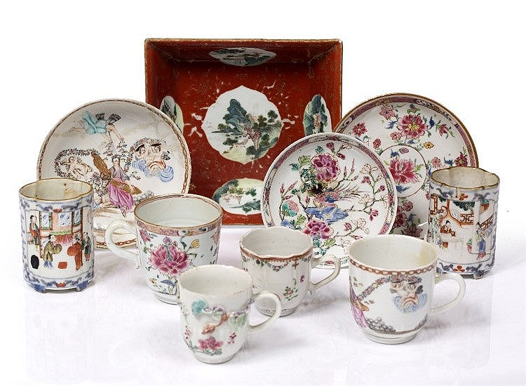 A collection of Chinese famille rose pieces