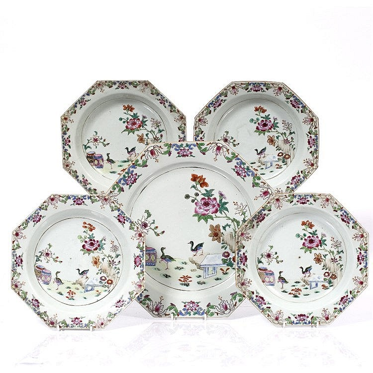 A set of Chinese famille rose porcelain
