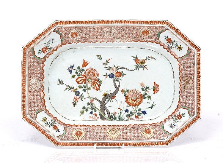 A Chinese porcelain export meat dish