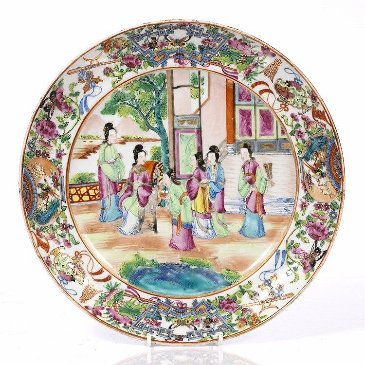 A Chinese Canton plate