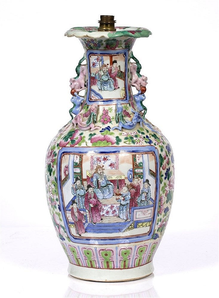 A Chinese Canton vase