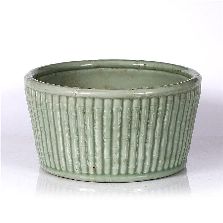 A Chinese celadon ground jardiniere