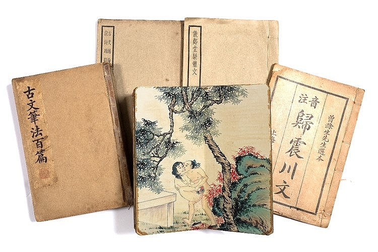 A Chinese erotic scene concertina book