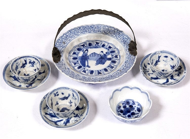 A Chinese blue and white miniature dish