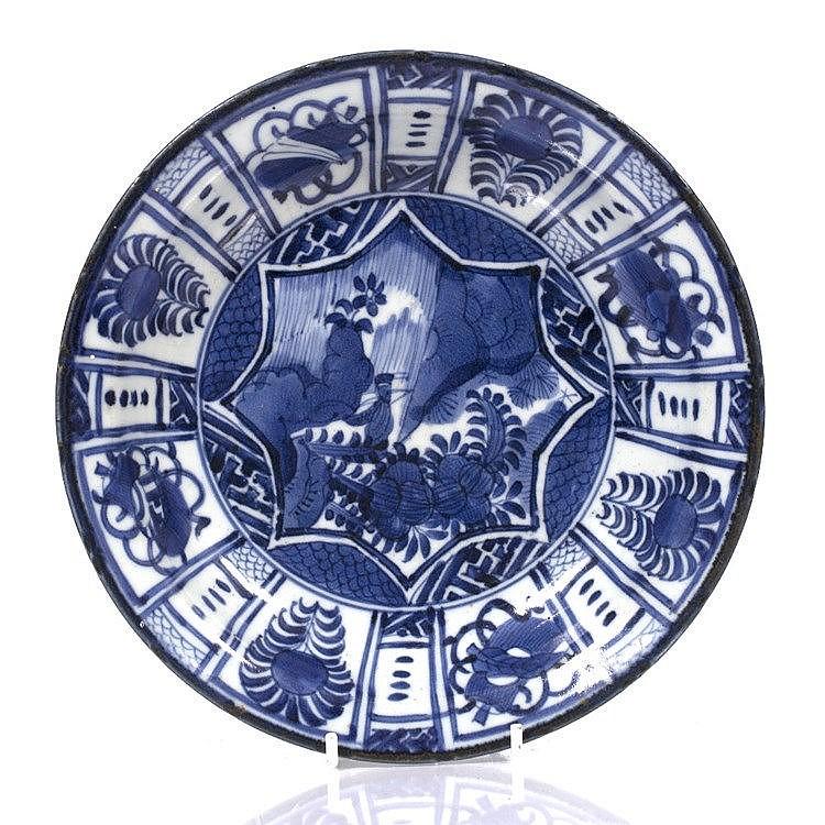 A Chinese porcelain Kraak dish