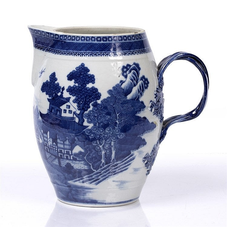 A Chinese blue and white porcelain export large jug