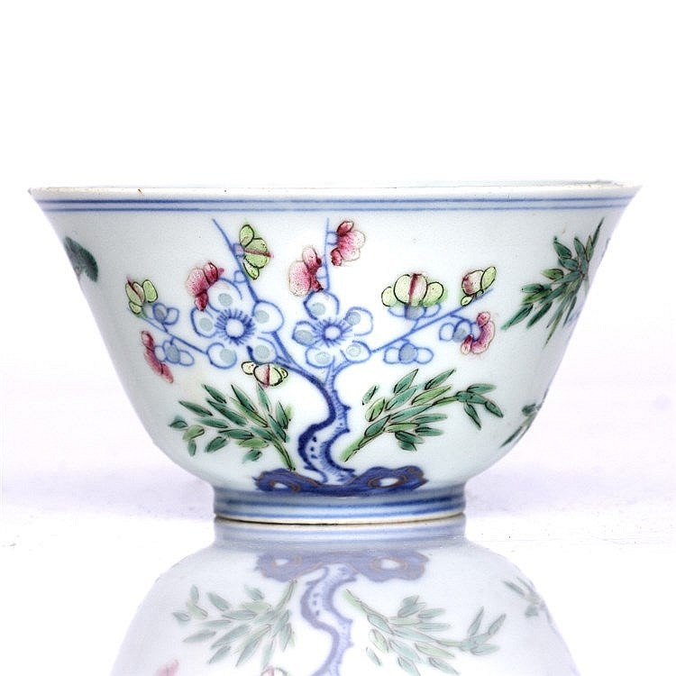 A Chinese Doucai small bowl
