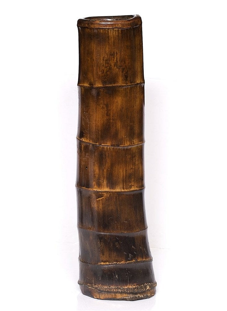 A Chinese bamboo tall stick stand