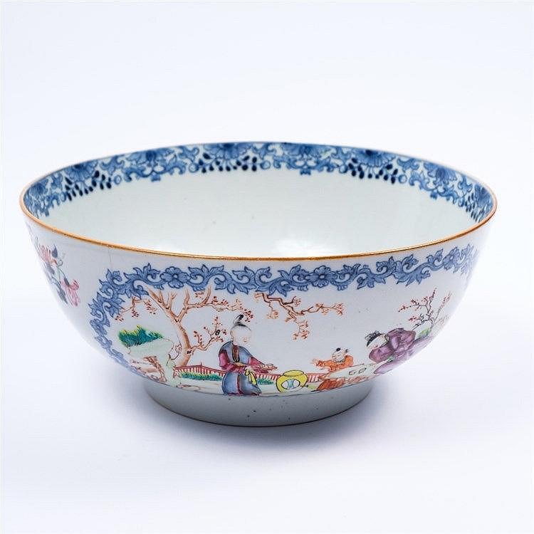 A Chinese Mandarin porcelain bowl