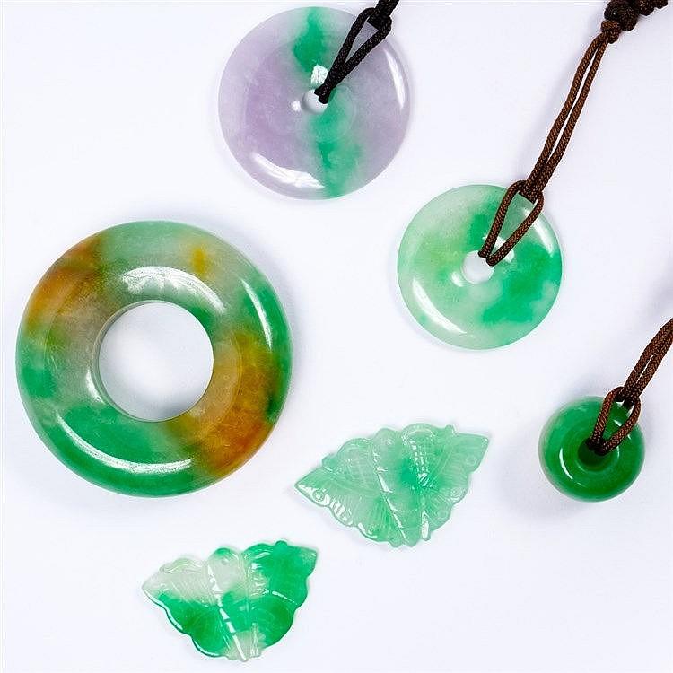 A Chinese jade bi disc pendant