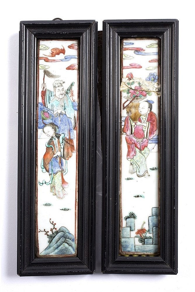 A pair of Chinese Canton panels