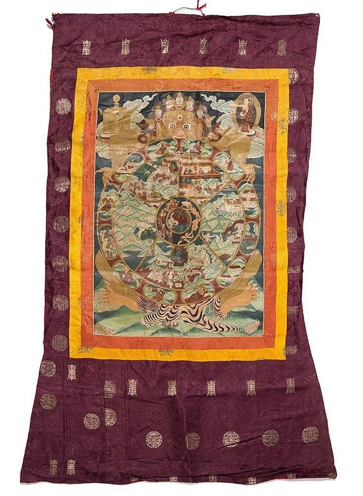 A Tibetan Mandala Thangka