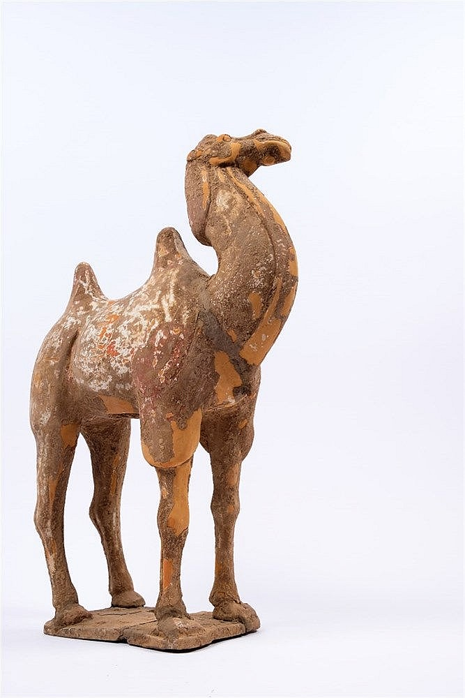 A pottery Bactrian camel