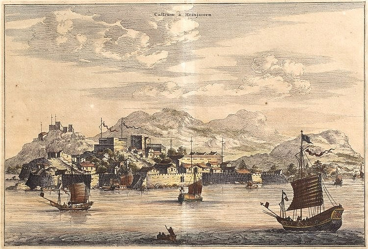 A set of five engravings of Chinese views