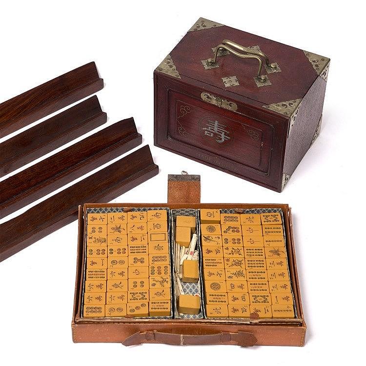 Two Chinese sets of Mahjong