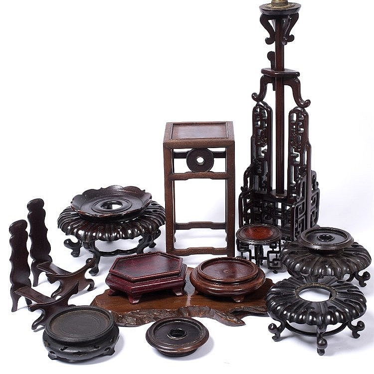 A collection of Chinese hardwood stands