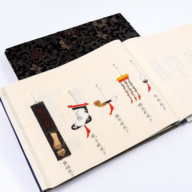Two Chinese cloth albums