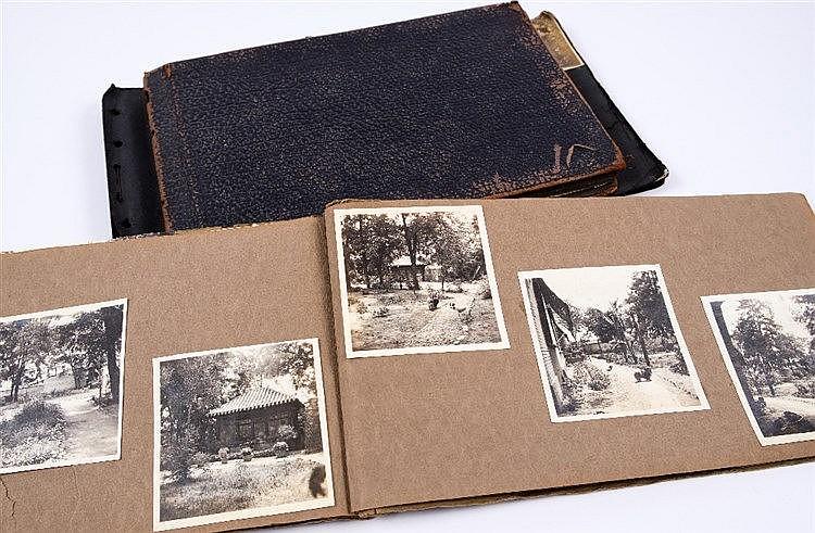 Three Chinese photo albums