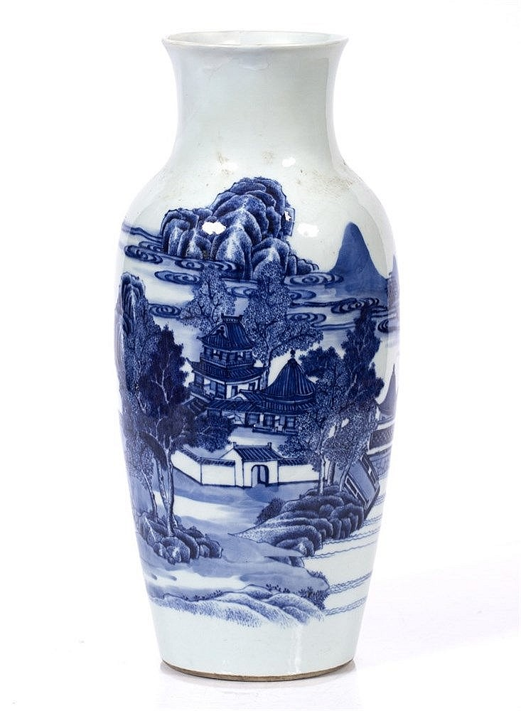 A Chinese porcelain baluster vase