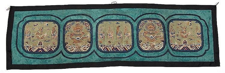 A Chinese silk panel