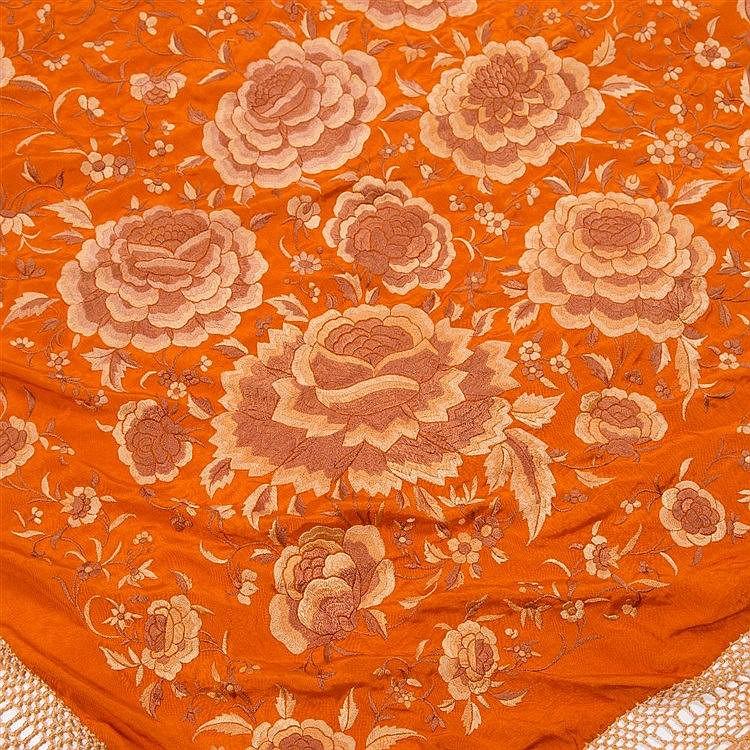 A Chinese large shawl