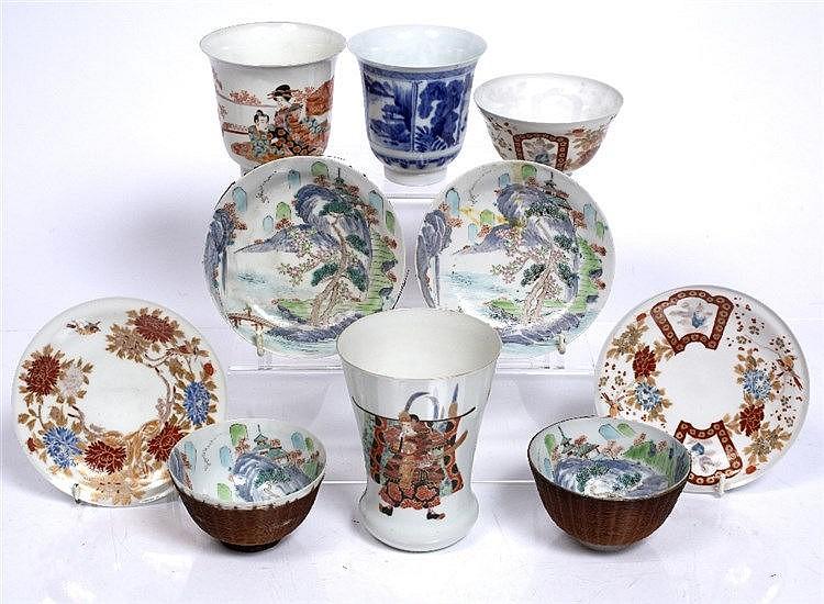 A Japanese Kutani beaker