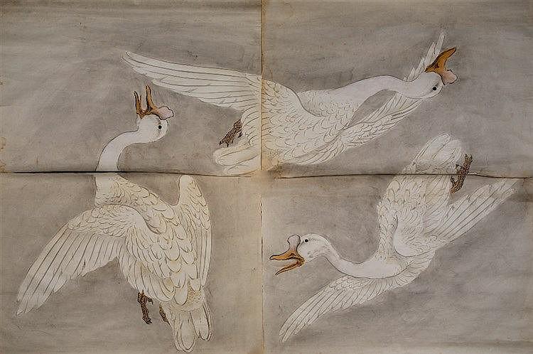 A Japanese wash drawing