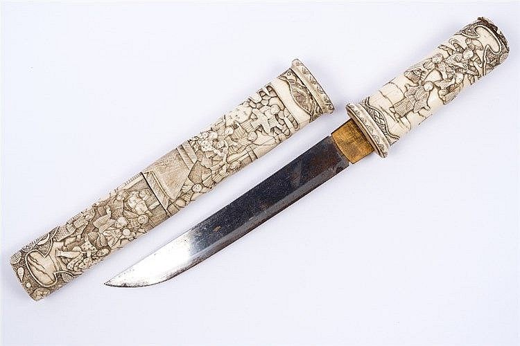 A Japanese ivory dagger (tanto)